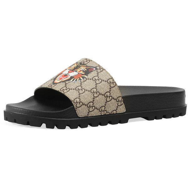 266436210c0d5 Gucci Pursuit Treck GG Supreme Cat   Eye Slide Sandal (£230) ❤ liked