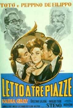 Letto a tre piazze 1960 di Steno con Totò, Peppino De Filippo e Nadia Gray.
