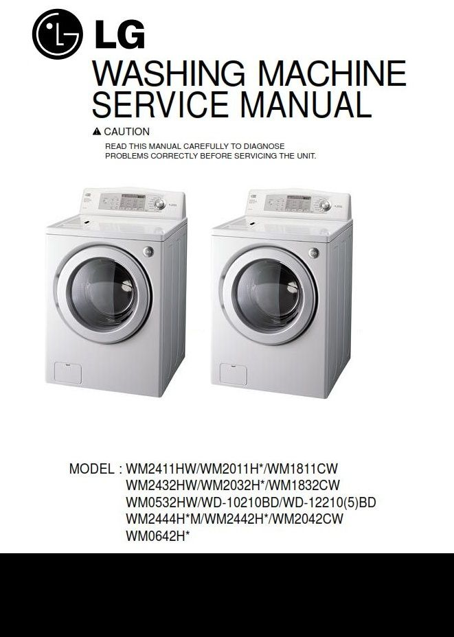 Lg Wd 12210bd 12215bd Washing Machine Service Manual Washing Machine Service Lg Washing Machines Washing Machine