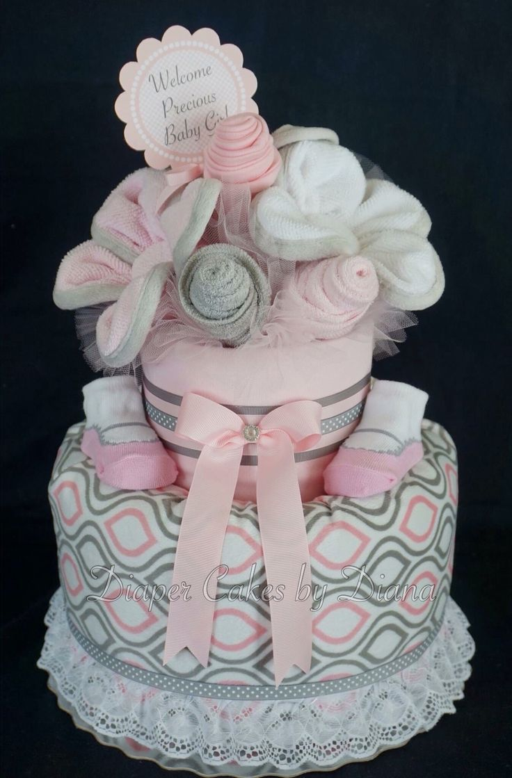 Best 20 Pink Diaper Cakes Ideas On Pinterest Pink Diaper Cakes