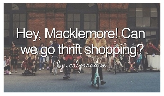 "This song totally gets stuck in my head all the time. LOL!   ""Thrift Shop"" by Macklemore is stuck in my head!"