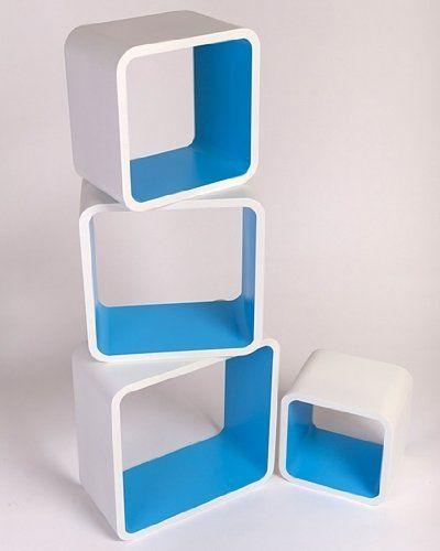 Retro Floating Shelves Bookcase Cube Shelving NEW - Square White & Blue LO02BM Cube http://www.amazon.co.uk/dp/B00A0K6B0I/ref=cm_sw_r_pi_dp_dxn0ub0KW9Q33