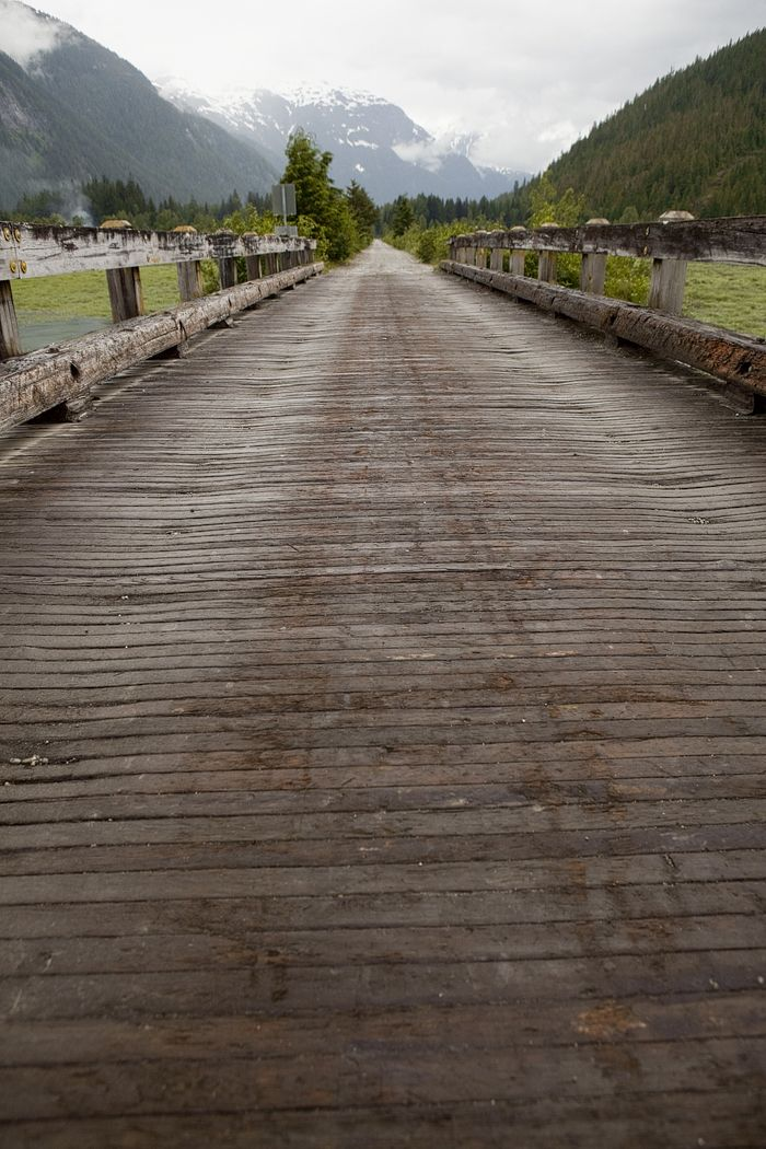 The pier ~ Hyder, Alaska is the first town you can drive into and still call it Alaska. Population about 87 ~ Such a fun town, best to visit the 1st of July to the 4th ♥
