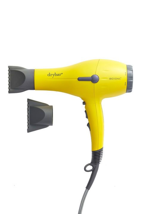 Best for: Salon results at home Your favorite blowout bar created their own tool to get the same results without having to schlep your way over to a salon. It includes a narrow nozzle attachment, perfect for styling your bangs. Drybar Buttercup Blow Dryer, $195; nordstrom.com