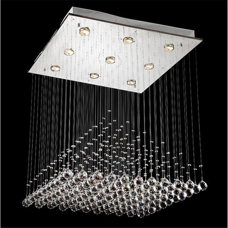 Modern Luxurious Pyramid Clear K9 Crystal Led G10 Pendant Light for Living Room Dining Room Restaurant Droplight AC 80-265V 1252 #Affiliate