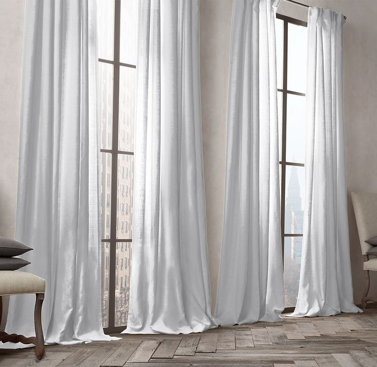 "RH one choice for bedrooms Belgian Opaque Linen Drapery 50""x84""HT two panels @$119 per panel"
