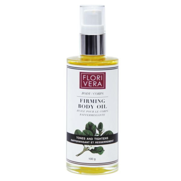 FLORIVERA FIRMING BODY OIL This fast absorbing dry oil contains Coffea Arabica Fruit Extract, a natural way to help eliminate toxins, reduce cellulite and tighten the skin. It is also infused with protective antioxidants Omega 3, 6 and 9, and Amazonian Cacay, a natural retinol.  Made in Canada.  www.florivera.com Fast absorbing dry oil. Effectively combats loss of skin elasticity