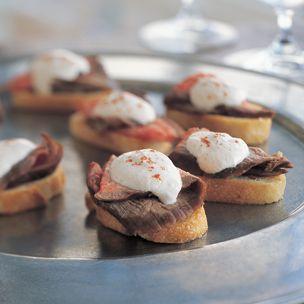 Crostini with Steak and Horseradish Cream - Click here for the #recipe: bit.ly/wREF5x