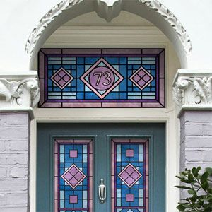 62 best house number ideas images on pinterest etched for Victorian stained glass window film
