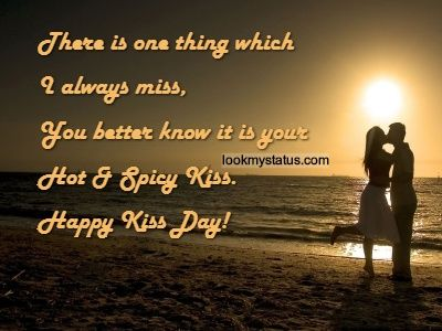 Kiss Day Images & Quotes, Kiss Day Messages, Kiss Day Status more @ lookmystatus.com