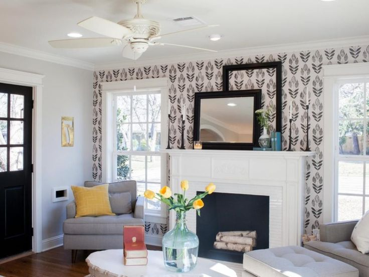accent wallpapers brown walls dining living trendir awesome floral idea contemporary wow plant creating bedroom upper rooms fixer fireplace google