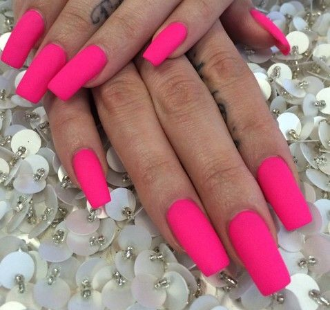 These nails are too long for me but I love this color. #nails #pink