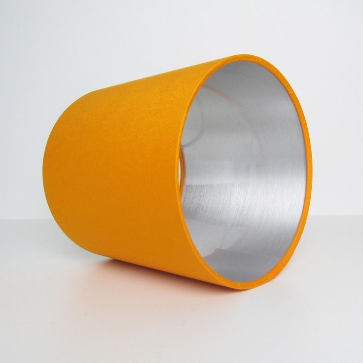 Orange and Silver Lampshade