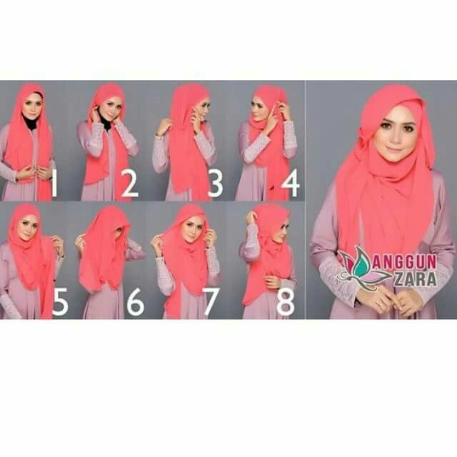 Long shawl tutorial #hijabnista