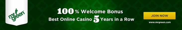 Mr Green - A Casino Playground: Blackjack, Roulette, Slot MachinesYou deposit 50 Euro and choose to take the welcome bonus of 100%. Your bal...