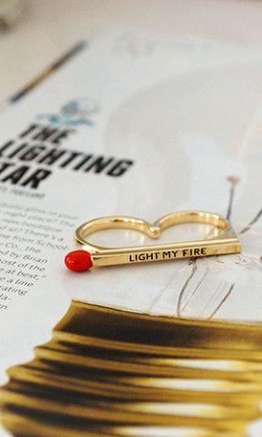 Perfect Matchstick Ring LIGHT MY FIRE