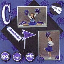 CDS Cheerleader Scrapbook Page