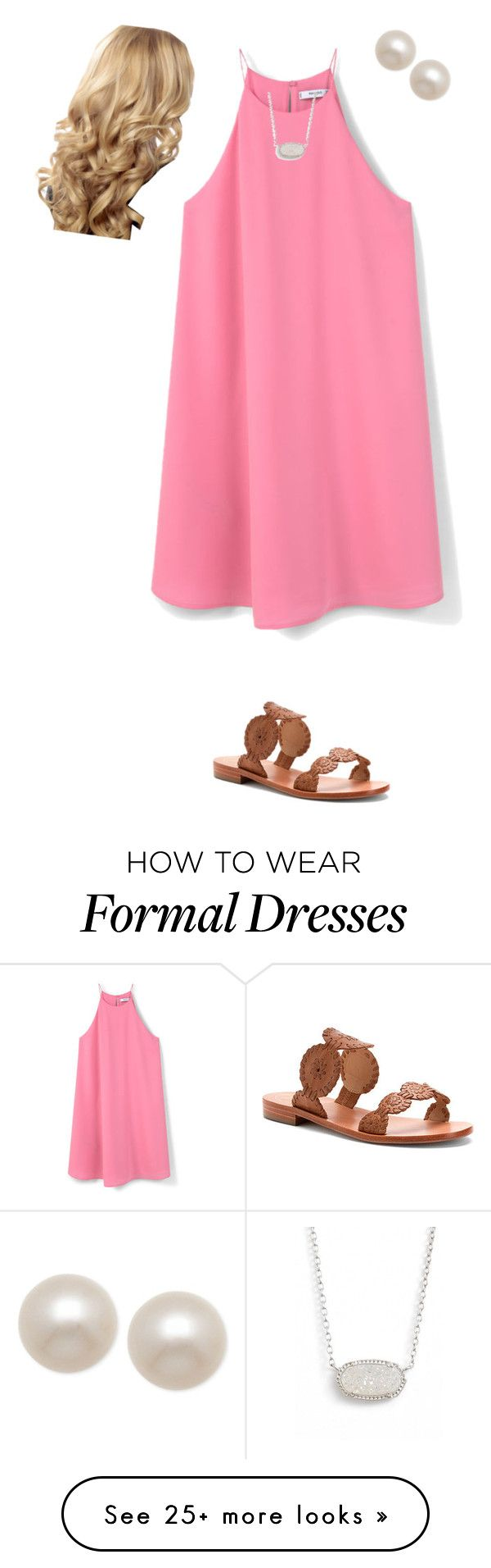 """sorry i've been so inactive lately!"" by thekaileea on Polyvore featuring MANGO, Jack Rogers, Kendra Scott and Honora"