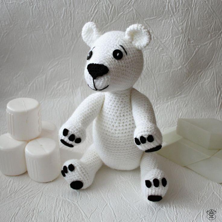 Lední medvídě/Polar bear Návod na háčkování/Guide to crochet