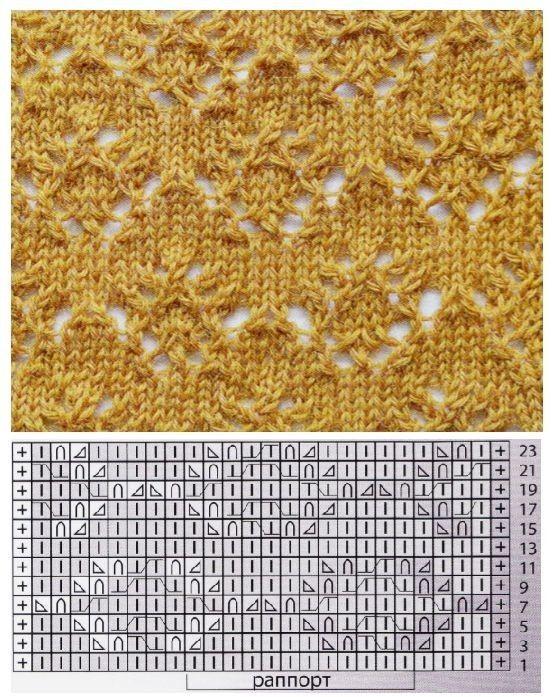 Подборка узоров со схемами для вязания на спицах. Обсуждение на LiveInternet - Российский Сервис Онлайн-Дневников