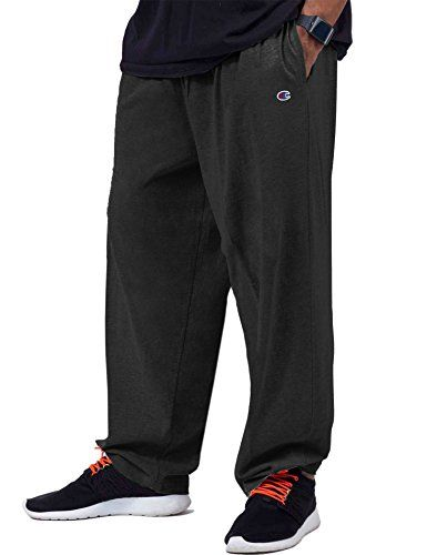 Champion Big & Tall Men's Jersey Pants with Elastic Bottom  Style#: CH306  Unit per Pack: 1  Material: 100% Cotton  Color: Black ***If color is assorted, then the colors and product pattern may vary by package and different from the pictures.***  **Please bear in mind that photo may slightly different from actual item in terms of color due to the lighting during photo shooting or the monitor's display**