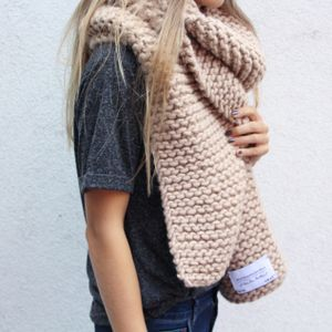 big scarf in blush