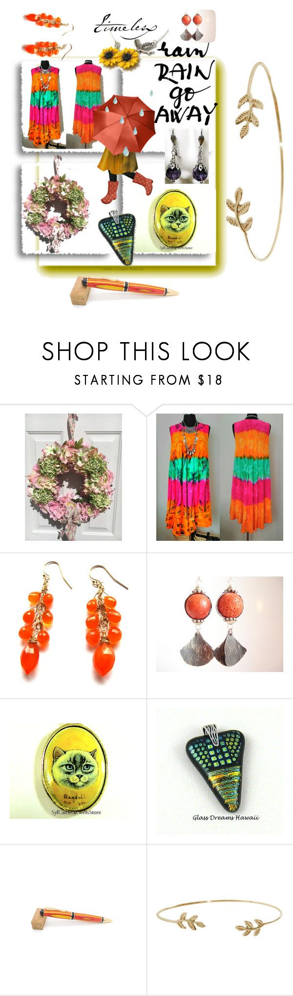 """""""Rain Rain Go Away!"""" by sylvia-cameojewels ❤ liked on Polyvore featuring Humble Chic"""