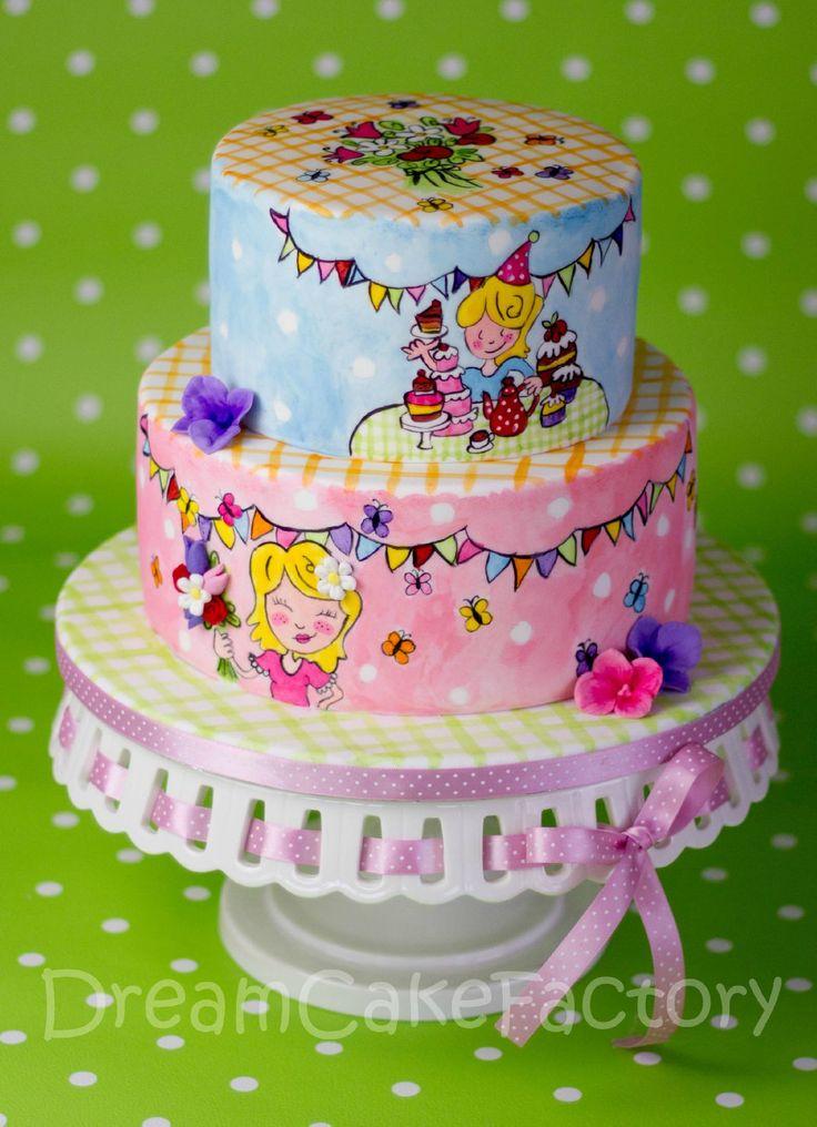 Handpainted Blond Amsterdam cake