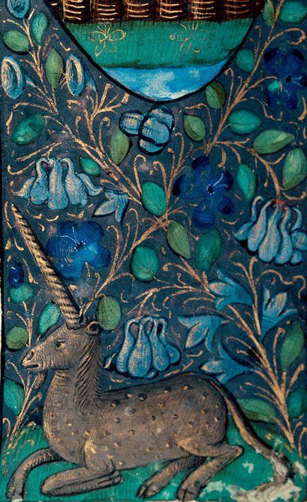 [Unicorn] Besançon, Bibl. mun., ms. 0069, p. 005. Breviary, use of Besançon. Rouen, before 1498.