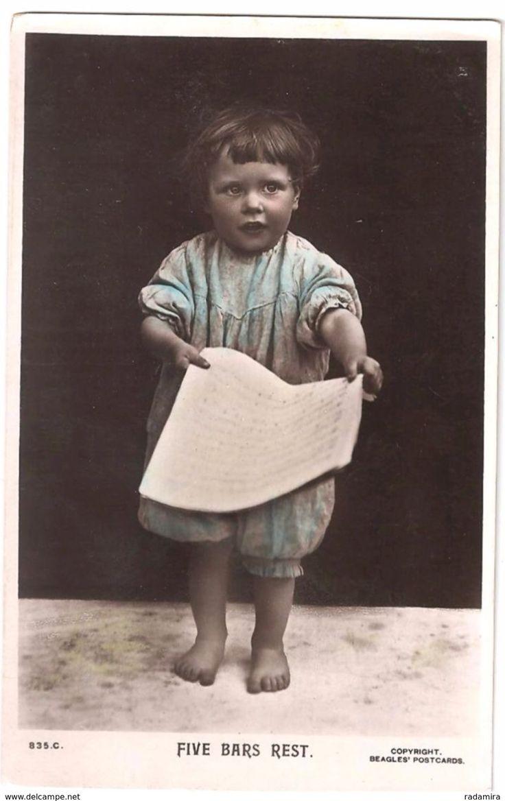 """Old Postcard """"FIVE BARS REST"""" England."""