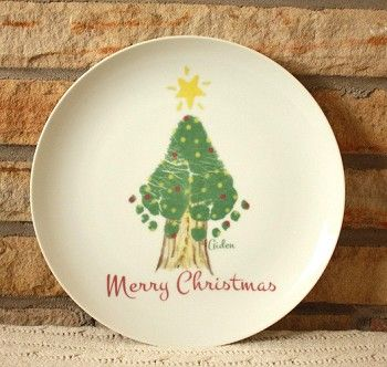 Ceramic Plates Footprint And Christmas Trees On Pinterest