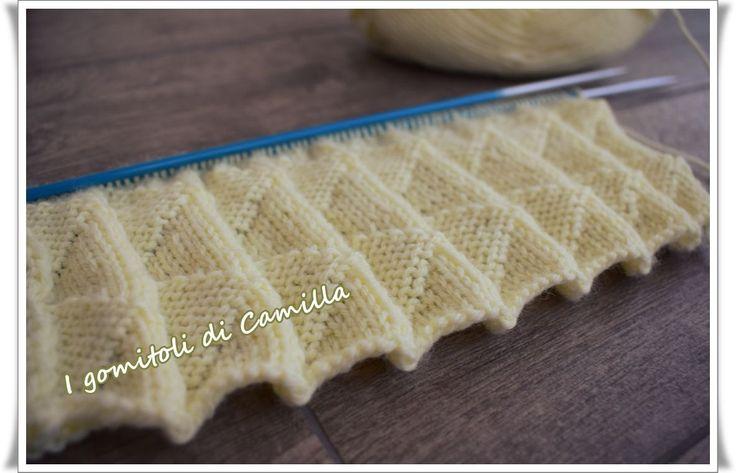 Come fare le pieghe con i ferri da maglia