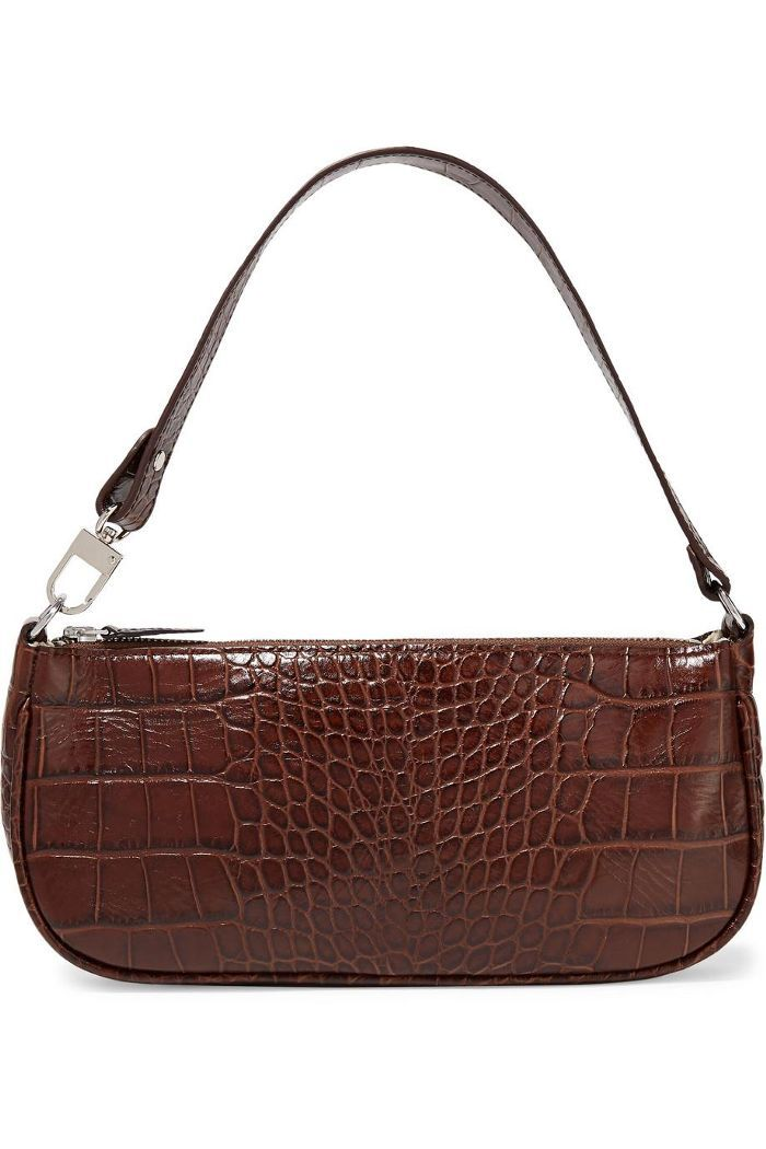5d9e2b4dec92 Rachel Croc-effect Leather Shoulder Bag