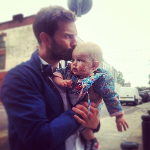 Photo of Jamie Dornan  & his  Daughter  Dulcie Dornan