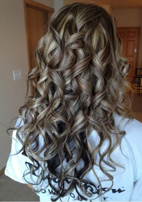 Curly Hair With Highlights And Lowlights Highlights And