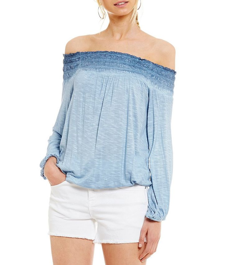 William Rast Layla Off-The-Shoulder Peasant Top