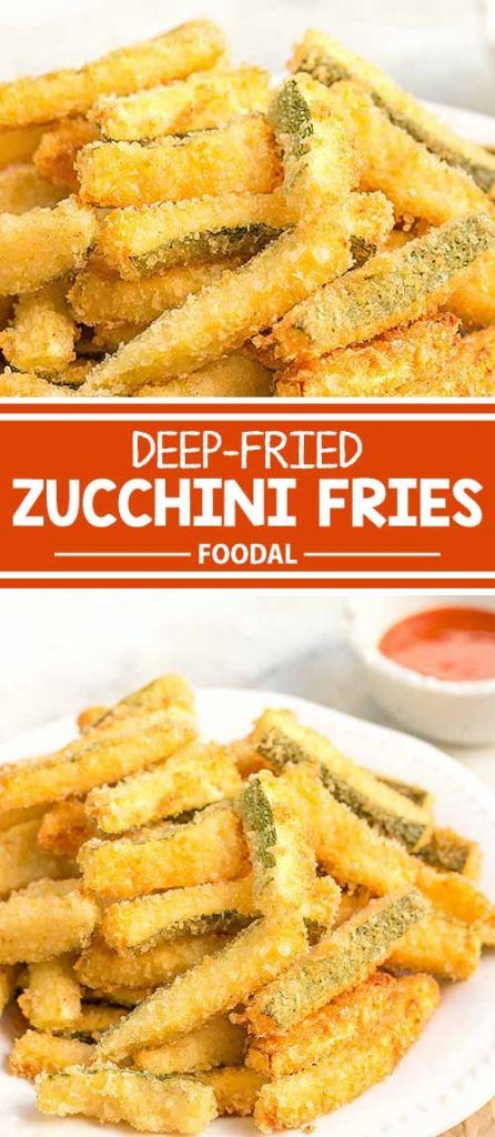 Do you love French fries? If you do, but want to try a healthier alternative once in a while, I'm sure you'll enjoy these deep-fried zucchini fries that have a crispy, golden exterior, and tender zucchini flesh on the inside. They're so simple to make, taste incredibly delicious, and go extremely well with a side of spicy Sriracha sauce. Get the recipe from Foodal today!