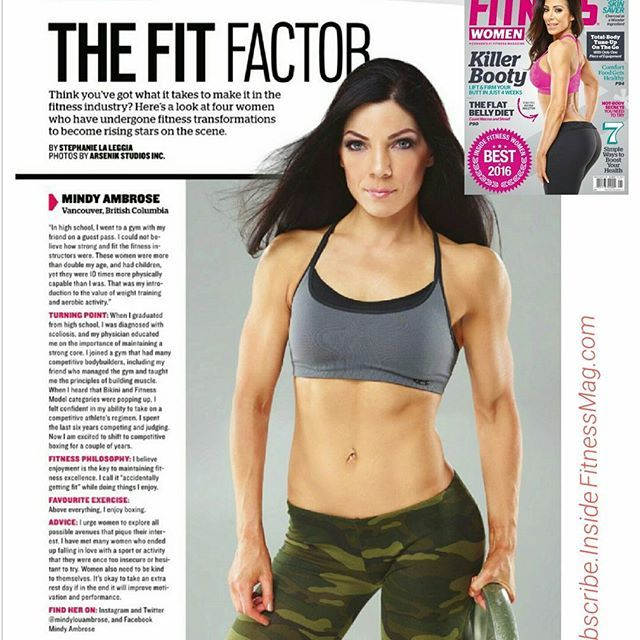 In stores NOW 😀 Check out the Dec/Jan issue of @insidefitnessw and let me know what you think of my wee feature. ⬜ You'll learn what ignited my gym obsession in my teens, why my doctor advised  me to take my weight training and yoga to higher level in my early 20s, my new philosophy after 20 years of consistent training, and my #1 health tip for women! ⬜ Thanks for your support Fitfam. This magazine appearance was a fun way for me to see how far I've come after my two-decade -long love…