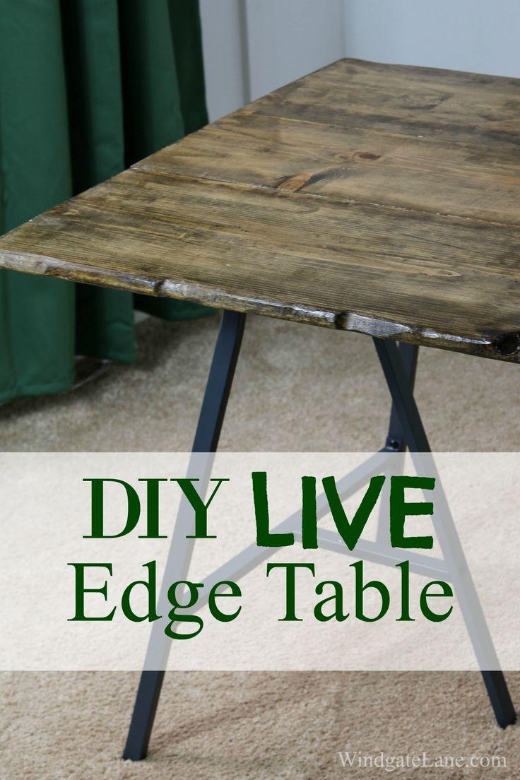 DIY Live Edge Table - Windgate Lane