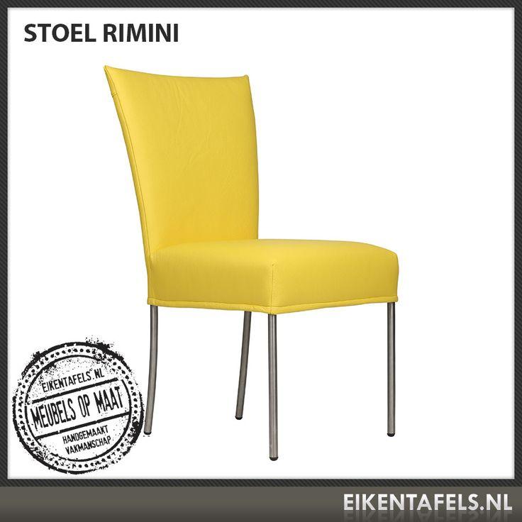 http://www.eikentafels.nl/product,Stoel+Rimini,383 , Stoel Rimini: Bent u op zoek naar een modern vormgegeven stoel met een retro uitstraling? Onze stoel Rimini zit heerlijk dankzij de goede zit en hoge rugleuning. Deze stoel kan worden uitgevoerd met meerdere soorten (kunst) leer of stof, waardoor deze in nagenoeg elk interieur past. Ook bij deze stoel hebben wij dé perfecte eiken tafel. Eikentafels.nl maakt immers uw tafel op maat, geheel volgens uw wensen, met een door u gekozen…