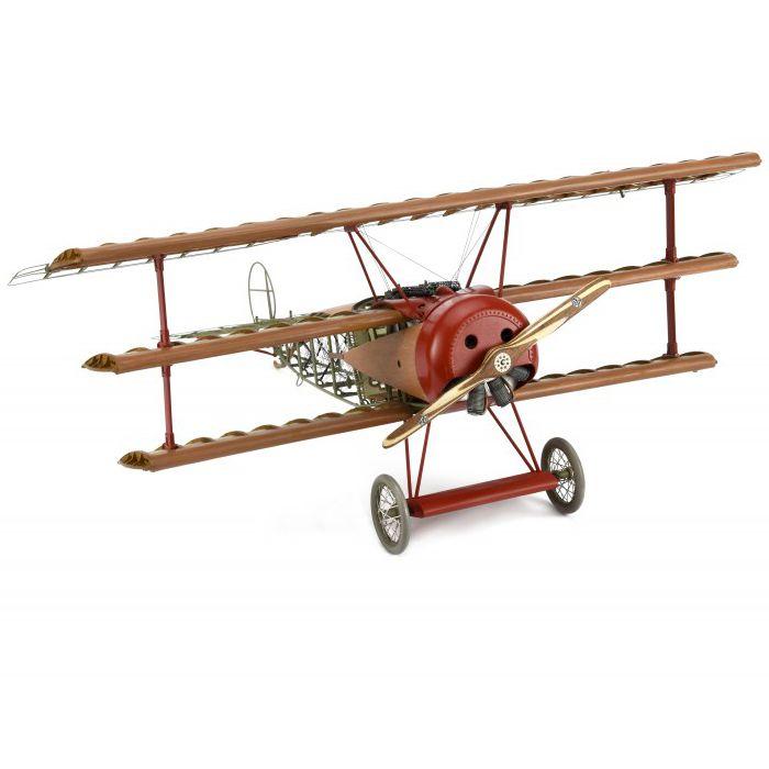 Hout modelbouw Fokker Dr.I Dreidecker jachtvliegtuig 1:16