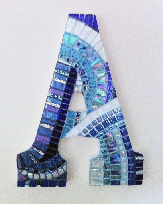9 inch Mosaic Wall Art Letters Custom Order by hamptonmosaics, $150.00