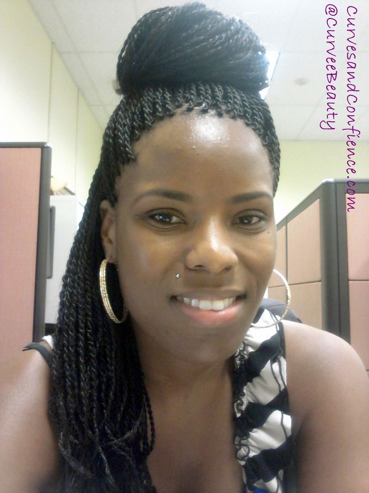#Senegalese Twists #Bun #Natural Hair