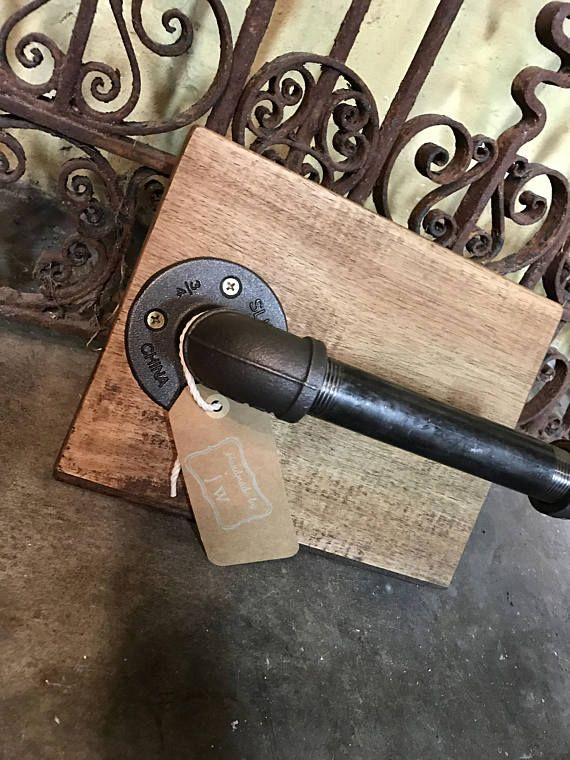 Rustic Pipe Toilet Paper Holder Farmhouse Toilet Accessories