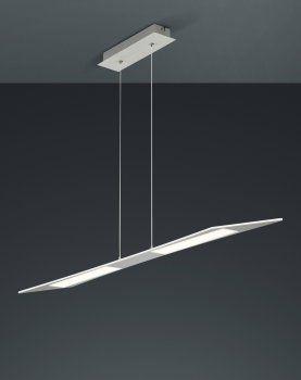 Trendige LED Pendelleuchte FLAT Aluminium TRIO Leuchten