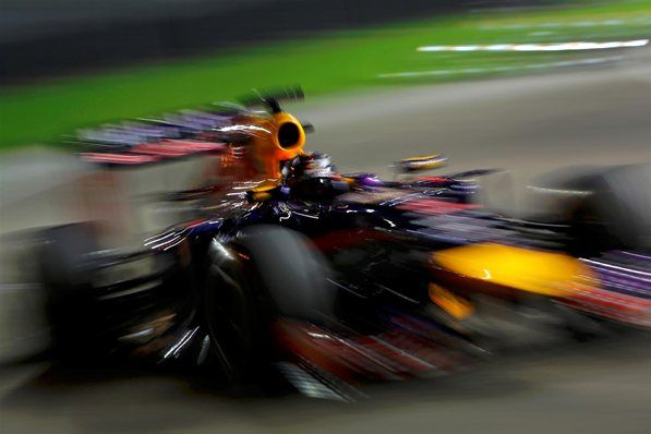 Sebastian Vettel (GER) Red Bull Racing RB10. Formula One World Championship, Rd14, Singapore Grand Prix, Marina Bay Street Circuit, Singapore, Practice, Friday, 19 September 2014