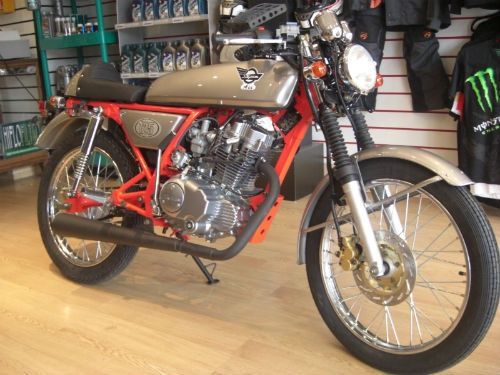 Skyteam Ace 125 Cafe Racer - £1,650 from Bike Tyre Services, Cheshire, UK (Tel. 0161-9730123)
