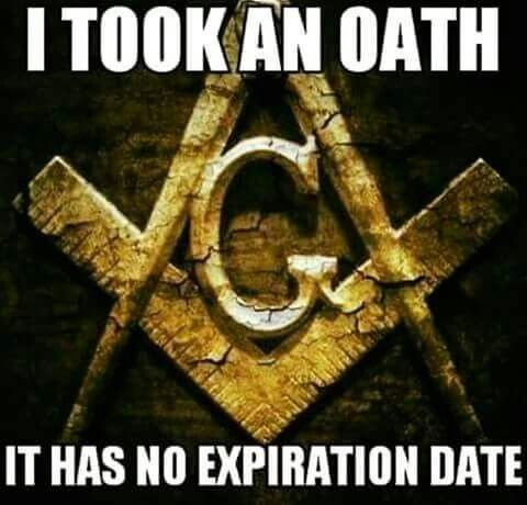 Masons take many oaths. Some are very serious, such as the oath to protect fellow masons, even if they are guilty of heinous crimes (including anything you can think of). The highest masonic oath of all is the oath to destroy law, religion, and government, or so some claim. They take communion out of a real human skull.