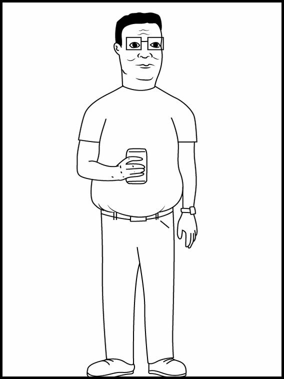 King Of The Hill 4 Printable Coloring Pages For Kids King Of The