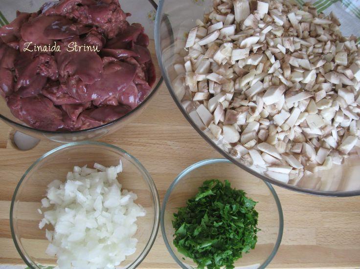 Zinnaida: Ficăței de pui cu ciuperci. Rețete culinare pe înț...
